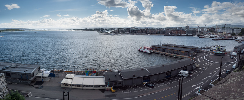 Oslo Harbor From Ahershus Fortress