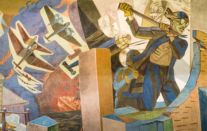 Portion of The Occupation Frieze, Depicting Nazi Occupation 1940-1945, by Alf Rolfsen, Oslo City Hall