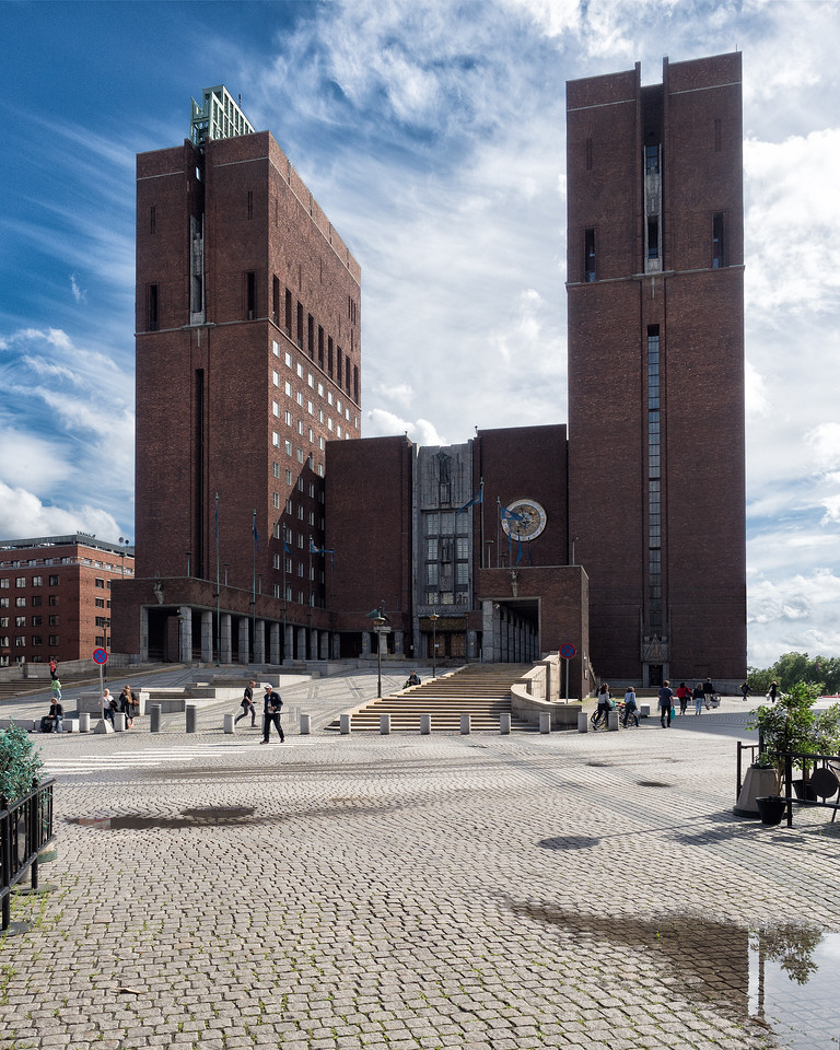 Oslo City Hall, Construction Began 1931, Completed 1950, Designed by Arneberg and Poulsson