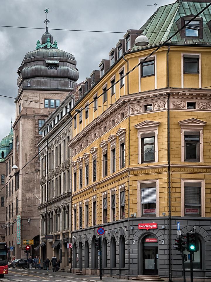 Buildings Along Tolbugata Street Oslo