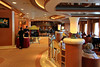 Crooner's Bar on the 7th deck, Carribean Princess. A baby grand piano is just off camera to the right.
