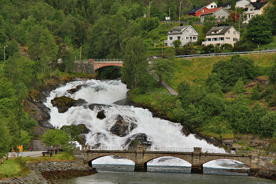 Helleslyt Waterfalls, Norway.