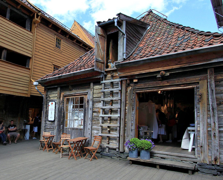 A gift shop with what must be tons of history in Bryggen, Norway.