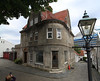 One of the few masonry buildings in Old Town Stavanger.