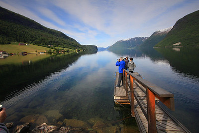 Hornindalsvatnet. At 1686 feet, this is the deepest lake in Europe. The small dock was highly unstable and it was wicked fun watching everybody fight for balance. I contributed to the hilarity as well.
