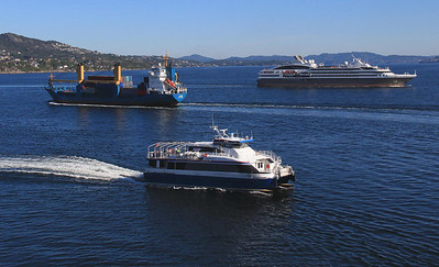 Sea lanes were busy in the Bergen harbor area and adjacent access waterways.