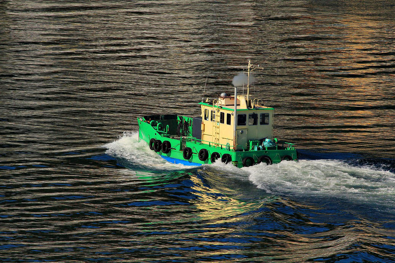 I liked the reflections around this unusual vessel in Bergen.