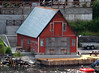 A colorful old boat shed in Stavanger.