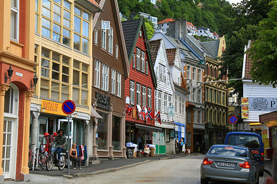 Side street near the waterfront in Bergen.
