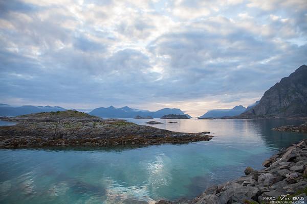 The Mightnight Sun from Henningsvær