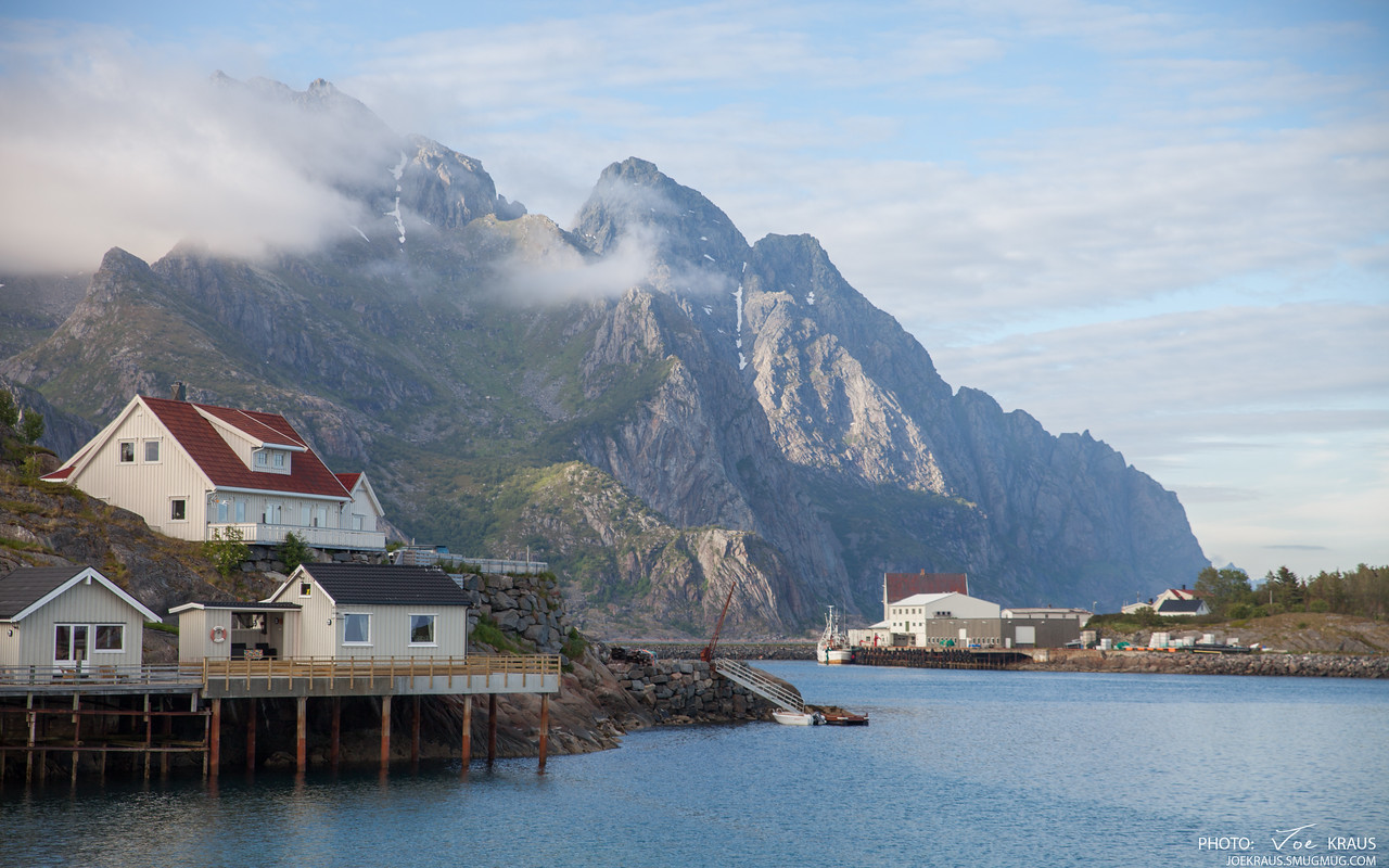 Homes and Industry on the Shores of Henningsvær