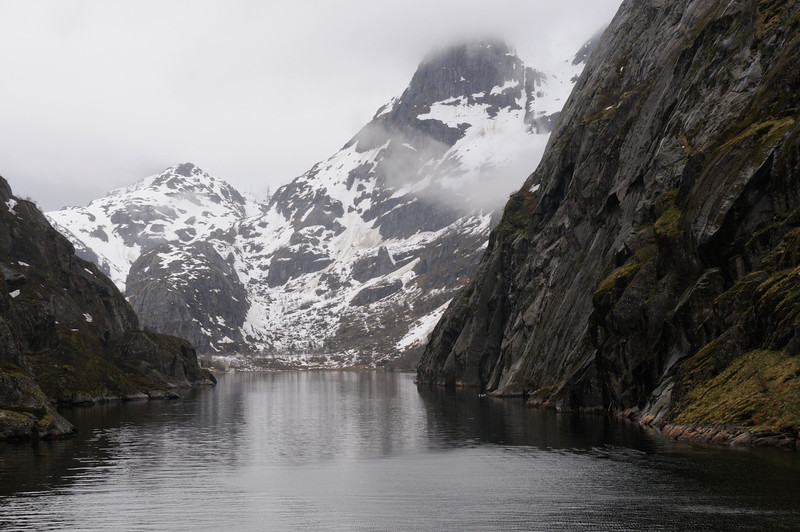 At the entrance to Trollfjord, which cuts westwards from the Raftsundet strait, Norway.