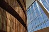 Interior of the Oslo Opera House (Operahuset) - oak versus glass.
