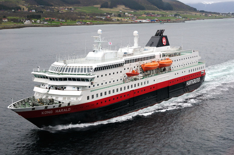Our trusty Hurtigruten transport, Norway.