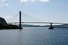 The Nordhordland Bridge is a combined cable-stayed and pontoon bridge crossing Salhusfjorden between Klauvaneset and Flatøy in Hordaland.<br /> It is 1,614 meters (5,295 ft) long, of which the pontoon section is 1,246 meters (4,088 ft) long.<br /> The cable-stayed section consists of a single 99-meter (325 ft) tall H-pylon which has a length of 368 meters (1,207 ft) and a main span of 172 meters (564 ft).<br /> This allows for a clearance of 32 meters (105 ft).