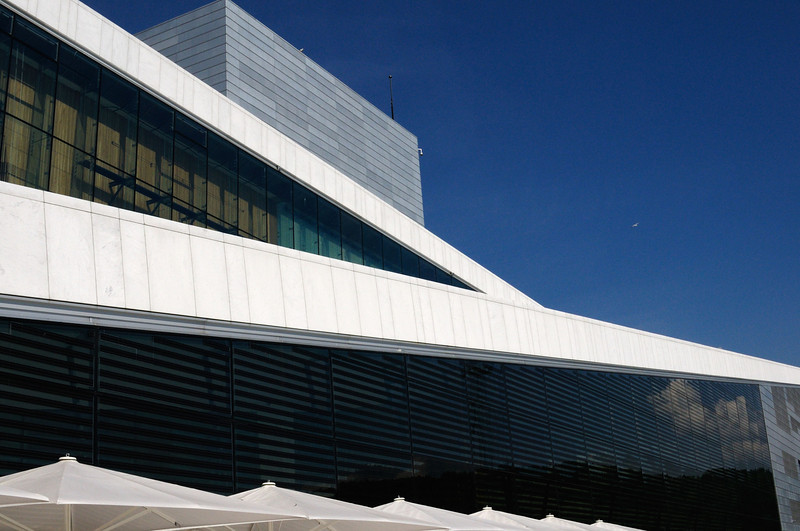 External view of the Oslo Opera House (Operahuset), Norway.