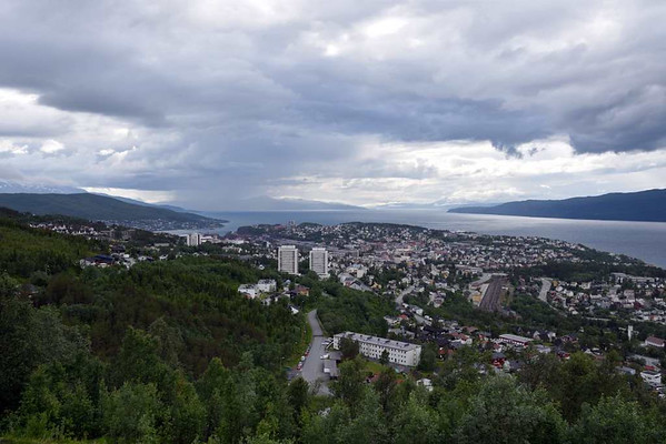 Narvik, 23 July 2015 2.  Looking west over the town to the Ofotfjord.
