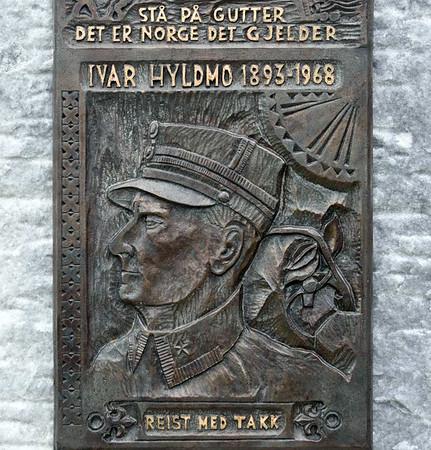 Ivar Hyldmo memorial, Narvik, 23 July 2015.  Major Hyldmo led a Norwegian battalion during the land battle of Narvik in 1940.