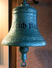 Ship's bell, Erich Koch, Narvik war museum, 24 July 2015.  Erich Koch was another of the ten German destroyers sunk by the Royal Navy during the naval battle of Narvik in April 1940.