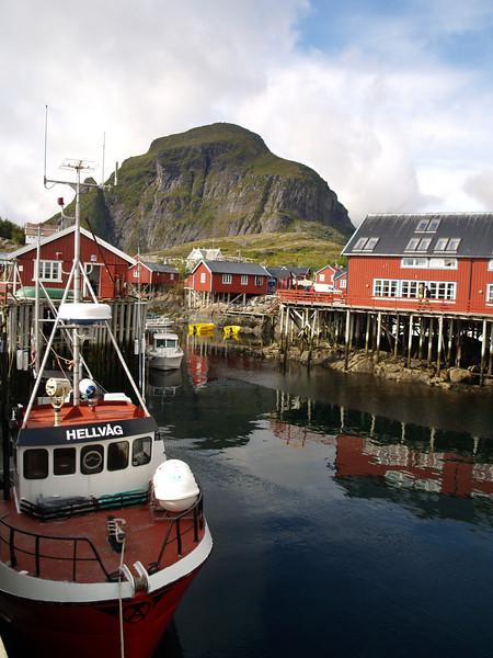 Puerto en las islas Lofoten
