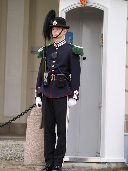 Guardia del Palacio Real en Oslo