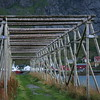 Fish drying rack in Reine