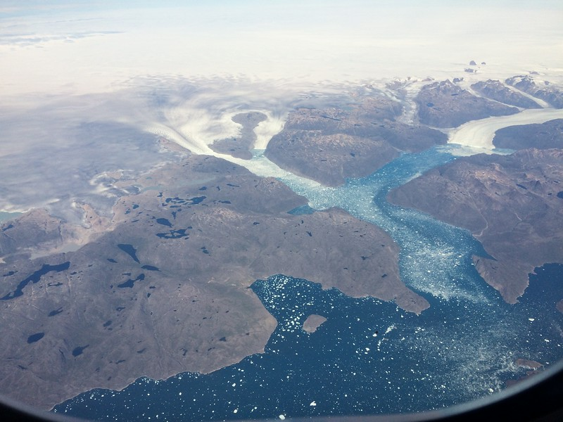 Somewhere over Greenland...