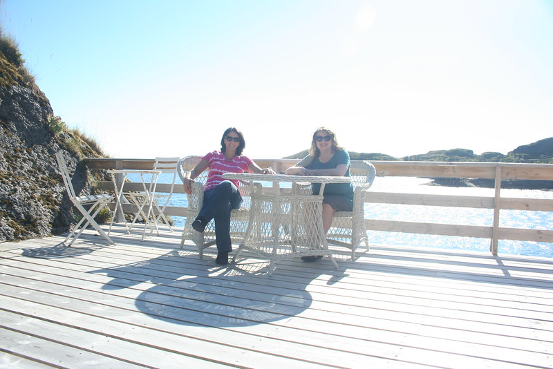 Friday - slightly overly bright shot of us on our deck