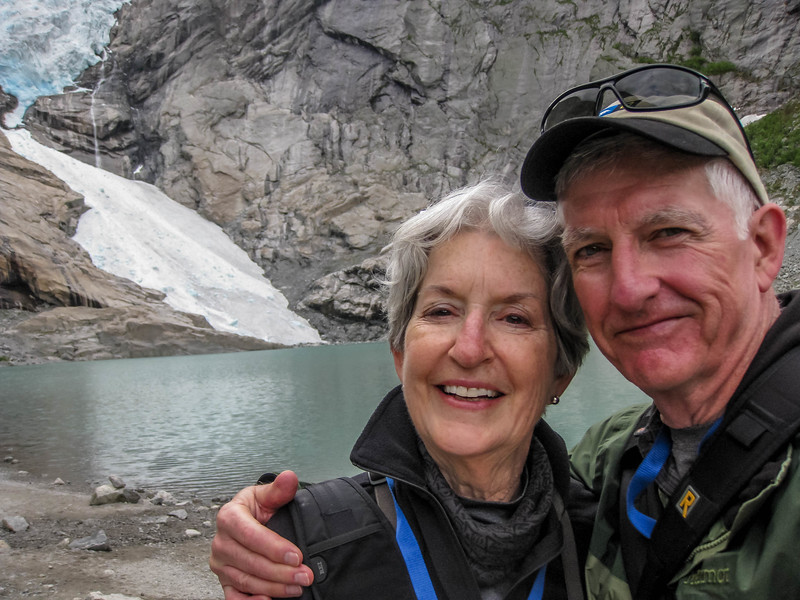 At the Briksdal Glacier, a tongue of the much larger Jostedalsl Glacier
