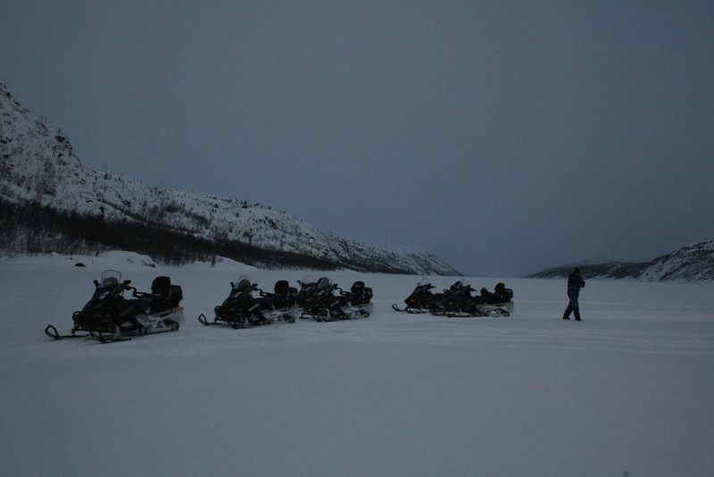Our snowmobile ride to the Fjord.
