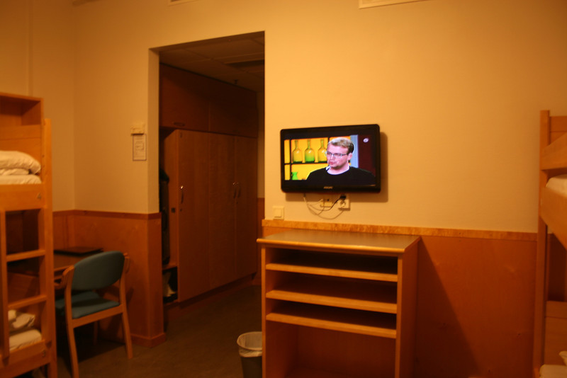 One of the few hostels with TV in a room.