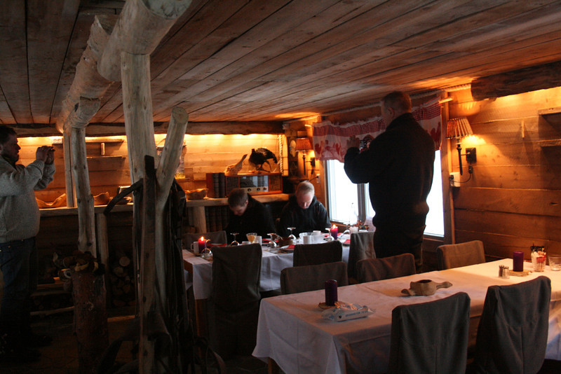 This is we're we end up eating tons of crab in this cozy little cabin