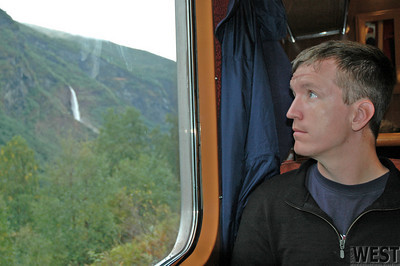 Ryan on a Norwegian Train