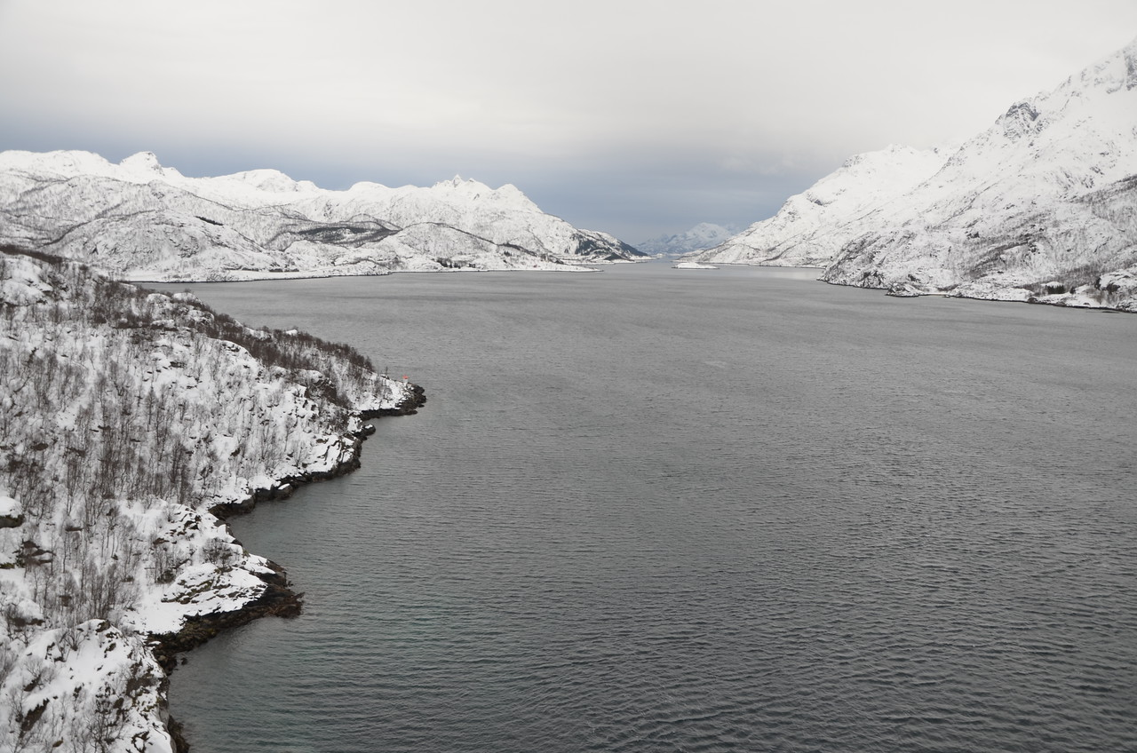 along the E10, west of Narvik