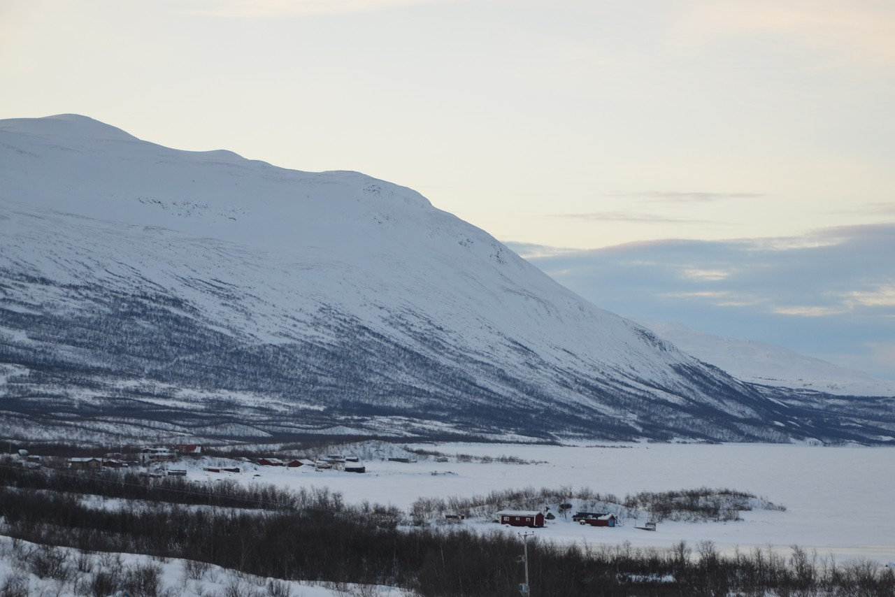 Abisko National Park, Sweden. The mountainside on the left is where I took a chairlift to watch the aurora.