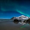 Flakstad sand and  Aurora