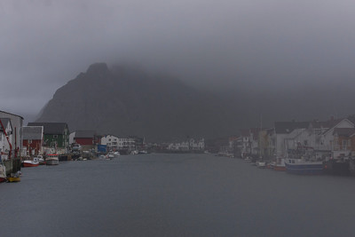 Another bleak day in Henningsvær - no chance for climbing in this weather...