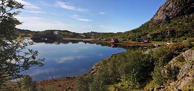 Camping near Hopen on the Lofoten islands