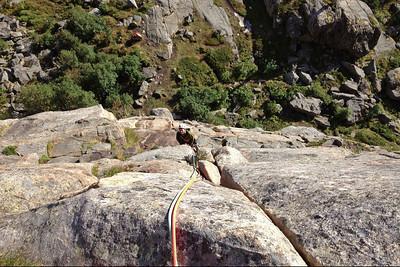 Rockclimbing near Henningsvær