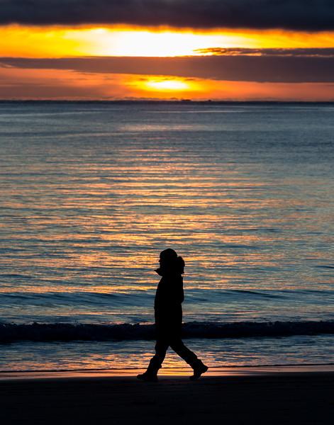 Sunset in stride