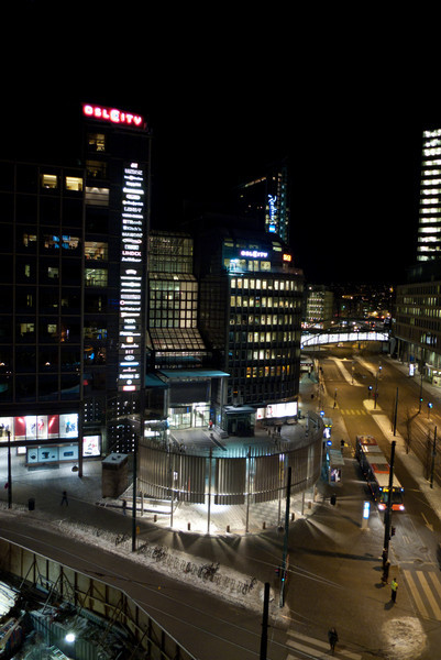 View from our hotel window.  OsloCity mall.