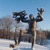 Babies attacking man