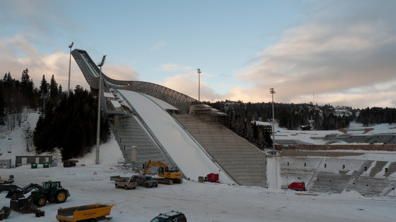 View from the ski jump