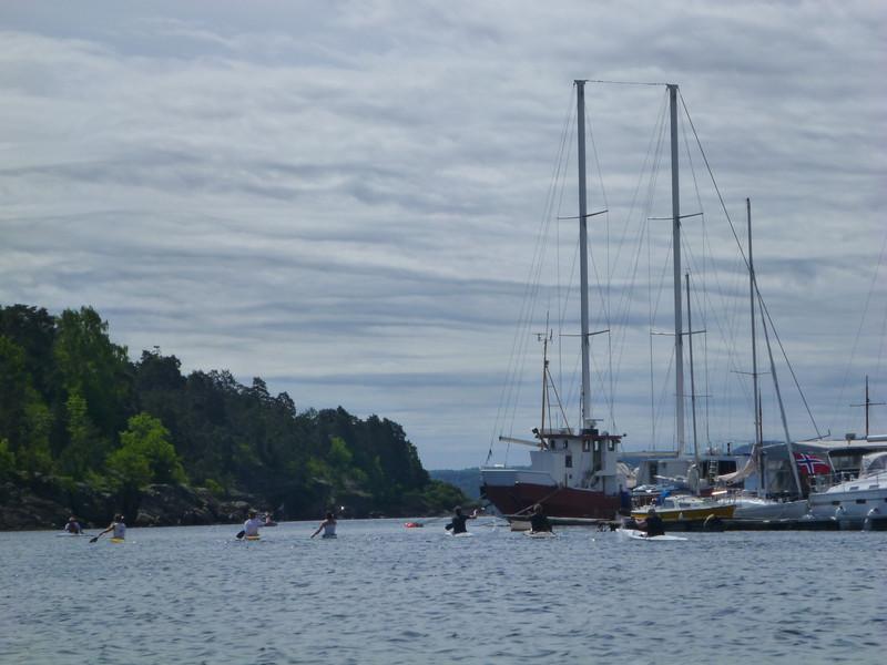 Oslo Kayak Club (OKK) setting out ahead of me.