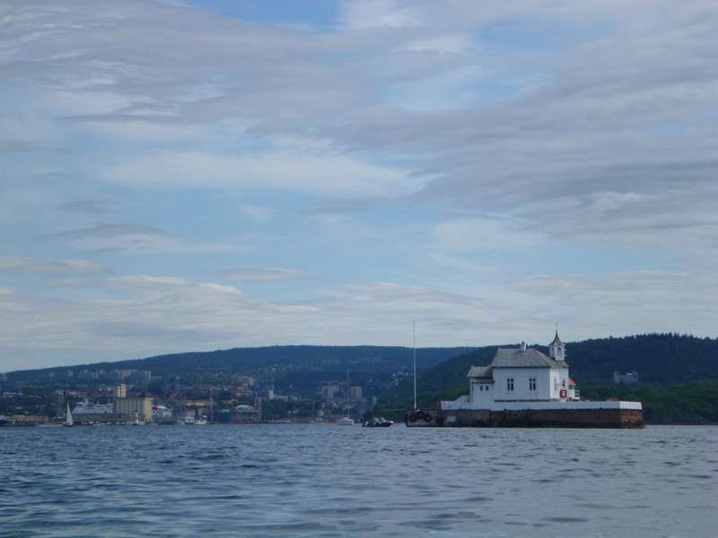 I couldn't figure out what this house was doing in the middle of the fjord.