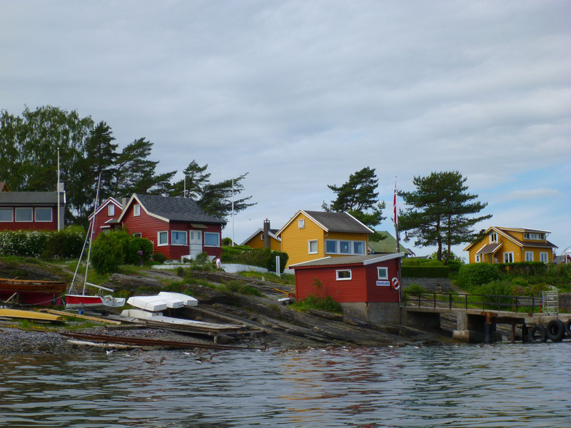 More island cabins.