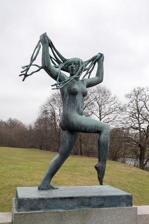 Vigeland Sculpture Park -- Feb 2014