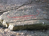 Petroglyph of a boat.