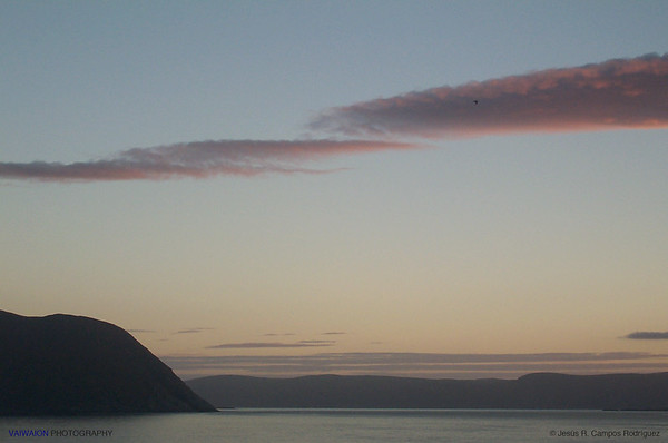 Leaving North Cape. Norway.