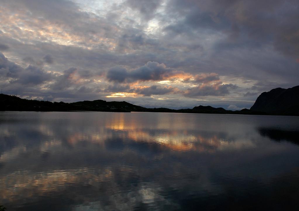 The midnight sky, Lofoten